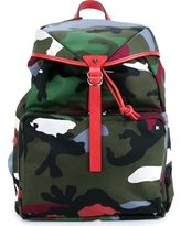 Valentino Leather Trimmed Camouflage Backpack