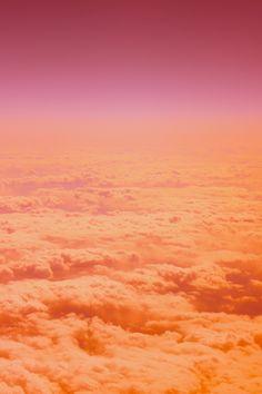 sunset - pink orange clouds sky
