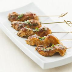 Thai Chicken Skewers, a recipe from ATCO Blue Flame Kitchen's Holiday Collection 2013 cookbook.