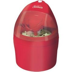 Sunbeam Gel Canister Ice Cream Maker, Red -- You can get additional details at the image link. Ice Cream Maker, Canisters, Classroom Decor, Cleaning Supplies, Home Remodeling, Canning, Bottle, Warehouse, Red