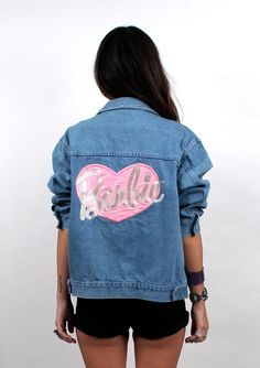 1990s TO DIE FOR Barbie Denim Jacket // Vintage by nanometer, $125.00