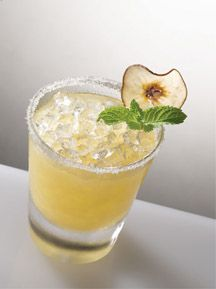 1 1/2 Grey GooseLa Poire Vodka  3/4 part Limoncello  1/2 simple syrup  1 part orange juice  mint leaves and dried pearsfor garnish http://www.amazon.com/gp/product/B00GJYNSGO/ref=cm_sw_r_tw_myi?m=A2W2R2120K5GL5&tag=s601000020-20