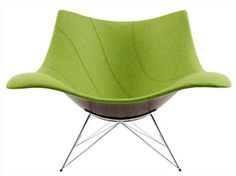 STINGRAY - The shape of the rocking chair was partially inspired by a shell. Rocking Chair, Home Accessories, Mid-century Modern, Armchair, Furniture Design, Mid Century, Retro, Chairs, Inspiration