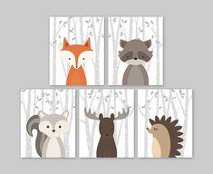 Woodland Creatures Woodland Nursery Decor Animal Nursery