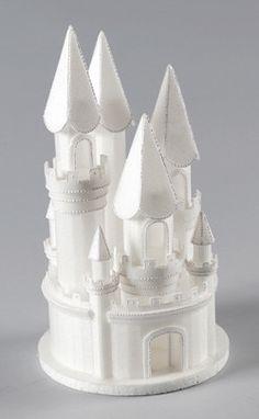 Stryofoam Castle Cake Topper perfect for princess cakes.   CaljavaOnline.com #caljava #castle #caketopper #castlecake