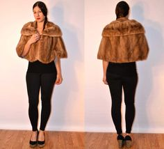 1950s sz small / medium fur cape fur stole  #FAUXYFURRVINTAGE #USAMADE