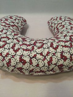 Hello Kitty Boppy Cover, Red and Pink Hello Kitty, Nursing Pillow Cover, Breastfeeding Pillow Cover