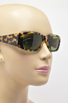 OPTICAL AFFAIRS Christian Roth Brown Bold Tortoise oval Rectangular SUNGLASSES #OpticalAffairsChristianRoth #Sunglasses