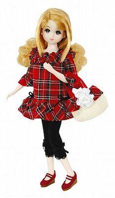 Takara-Tomy-Licca-Doll-Checkered-Dress-Set