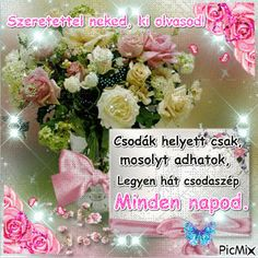 fea7e66e32b70395ccaf81a7992fff76.gif (450×451) Beautiful Roses, Animals And Pets, Ethnic Recipes, Minden, Amazing, Quotes, Good Morning, Pets, Quotations