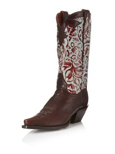 77% OFF Dan Post Women\'s Rose Western Boot (Chocolate/Turquoise)