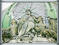 """# 🗽 # Liberty 📷@ 🗽the Sitting Statue of Liberty🗽 ~ There is one Unique """" the Sitting Statue of Liberty """" in Ukrainian city of Lviv. It is a sculpture on a dome of the house (15, Freedom Avenue) built by architect Yuriy Zakharevych and decorated by Sculptor Leandro Marconi - while his cousin was Leonard Marconi, a Sculptor. ~"""""""