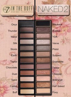 >>>> Urban Decay Naked 2 pallet dupe