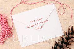 Christmas Styled Stock / Blank Envelope / Christmas mock up / Card Mock up / Styled Envelope / JPEG Digital Image / StockStyle-513