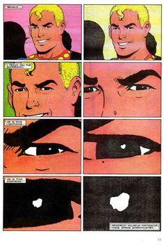 Page from Miracleman #1 by Alan Moore and Garry Leach. Published...