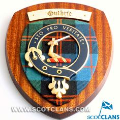 Guthrie Clan Crest wall Plaque