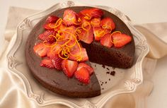 Delicious strawberry cake recipe made with rich chocolate. Make this easy dessert recipe for friends & family. Get this berry recipe at Naturipe Farms...