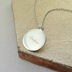 Personalised Rose Gold Or Silver Disc Necklace
