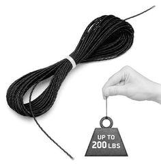 15 feet of 200lb test Kevlar cord.