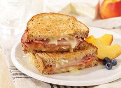 Grilled Ham and Brie Sandwich with Peach Preserves