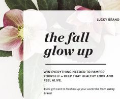 Score a $500.00 Lucky Brand gift card, a Drybar styling wand, a $100.00 Drybar gift card, a box of select bestselling products from Tarte Cosmetics, a $500.00 Visa gift card and a $250.00 Green Chef gift card. Enter now!