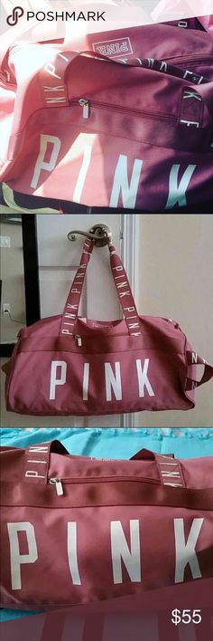 "VS PINK DUFFLE  Bundle   Smoke free home ✅ Pet free home  NO HOLDS  NO TRADES  NO ""lowest?""   ---------------------------   VICTORIA'S SECRET PINK TRAVEL BAG Color: Soft Begonia (I also have this in Hot Pink!!) Condition: BRAND NEW NWT    Just released.               - - - - - - - - - - - Pink Nation member love! Perfect for weekend travel gym college travel campus beach yoga run VS PINK DUFFLE PINK Victoria's Secret Bags Travel Bags"