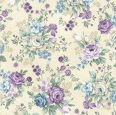 Henry Glass Fabrics - Twilight Garden - Vintage Allover Floral Medium Spa Blue by Mary Jane Carey Flower Backgrounds, Flower Wallpaper, Of Wallpaper, Wallpaper Backgrounds, Floral Fabric, Blue Fabric, Fabric Flowers, Floral Prints, Linen Fabric