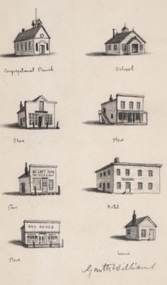 Garth Williams chapter header illustrations from Little Town on the Prairie.