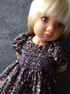 Sweet Smocked Dress for a Kidz'n'Cats Doll.........by lkb