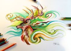 107- Stag by Lucky978.deviantart.com on @DeviantArt