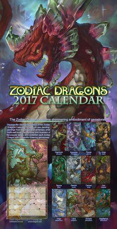 2017 Zodiac Dragons Calendar by The-SixthLeafClover on DeviantArt