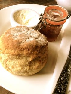 January 10th  At the Curious Tea Rooms I got a scone with clotted cream and strawberry jam.  So yummy!