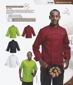 Double breasted short sleeve chef jacket is a must have for any kitchen. This jacket also has welted chest pocket, thermometer sleeve pocket and single top-stitched armhole and shoulder seam.  190g 80/20 Poly cotton fabric Available in long & short sleeves Bar-tacked on all pressure points