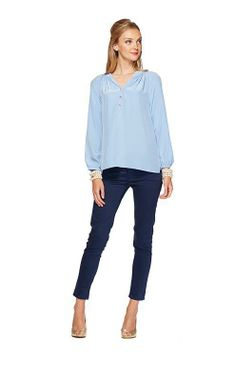 Lilly Pulitzer Elsa Top in Blue Bell- Was $148, Now $59