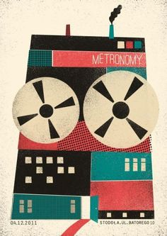 Great design on this Metronomy poster from their tour stop in Warsaw, Poland.