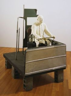 "George Segal (Pop art american) ""The Bus Driver"" 1962 Parts Of The Mass, Moma Art, James Rosenquist, George Segal, Life Cast, Arte Online, Pop Art Movement, Philip Johnson, Robert Rauschenberg"