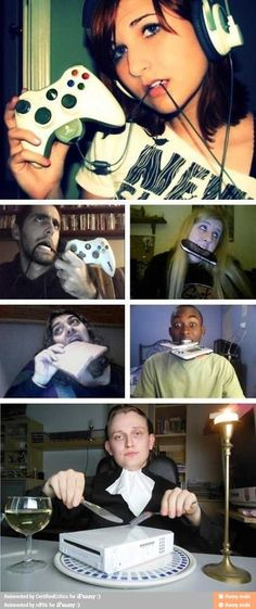 "Funny pictures about How ""gamer girls"" look like. Oh, and cool pics about How ""gamer girls"" look like. Also, How ""gamer girls"" look like photos. Funny Shit, Funny Cute, Funny Posts, The Funny, Funny Memes, Funny Stuff, Funny Videos, Funniest Memes, Funny Fails"