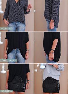 Wenn Du ein zu großes Top trägst und nicht zu kastenförmig aussehen möchtest, stecke es vorne in die Hose. | 23 Style-Hacks, die alle faulen Mädchen für gut befinden werden