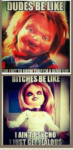 Dudes & Bitches be like. omg im dying right now. I cant get enough of these Movie Memes, Funny Memes, Hilarious, Funny Stuff, Scary Films, Horror Movies, Funy Quotes, Dudes Be Like, Quotes