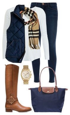 Cute Winter Outfit Ideas - Chambray Cashmere Scarf