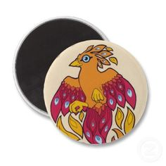 Cute Phoenix Magnet - starting at $3.60 at Zazzle.com, different sizes and shapes available! #phoenix #cute #magnet #fantasy #art