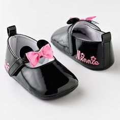 Disney Mickey Mouse and Friends Minnie Mouse Mary Jane Shoes for baby girl