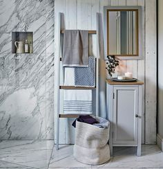 Bad Einrichten Leinen Stoff John Lewis Home, Leaning Shelf, Store  Interiors, Family Bathroom