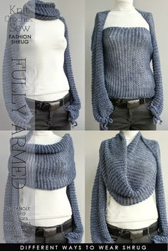 cool idea for winter sleeved shrug