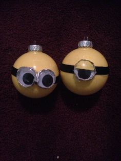 Minions from despicable me Christmas ornaments DIY