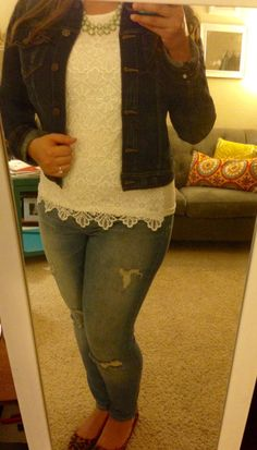I would love to have a dark wash denim jacket and this one is great -- no distressing.