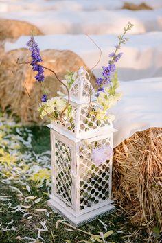 Lantern Detail Ranch Wedding