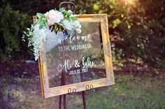 Custom Acrylic Wedding Welcome Sign / welcome to our beginning