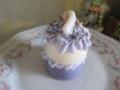 Lavender Ruffled Lace Marie Antoinette inspired cake soap!