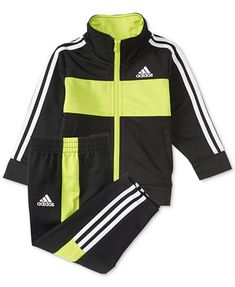 64bebdbd6 Give your sporty guy cool style with this boys' adidas Team tricot jacket  and pants set.